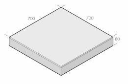 Klassikplattan 700x700x80