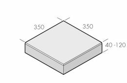 Klassikplattan 350x350x40/120