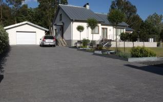 Stenläggning garageuppfart inspiration